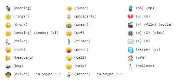 hidden smile skype 5.5